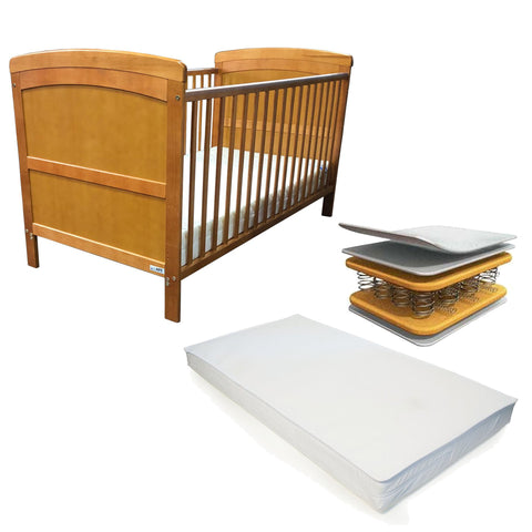 iSafe Cot Bed Toddler Bed - Nils (With Teething Rails) & Free Deluxe Sprung Mattress