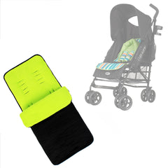 Buddy Jet Foot Muff Lime Suitable For OBaby Atlas Lite Travel System (Lime Stripes) - Baby Travel UK  - 1