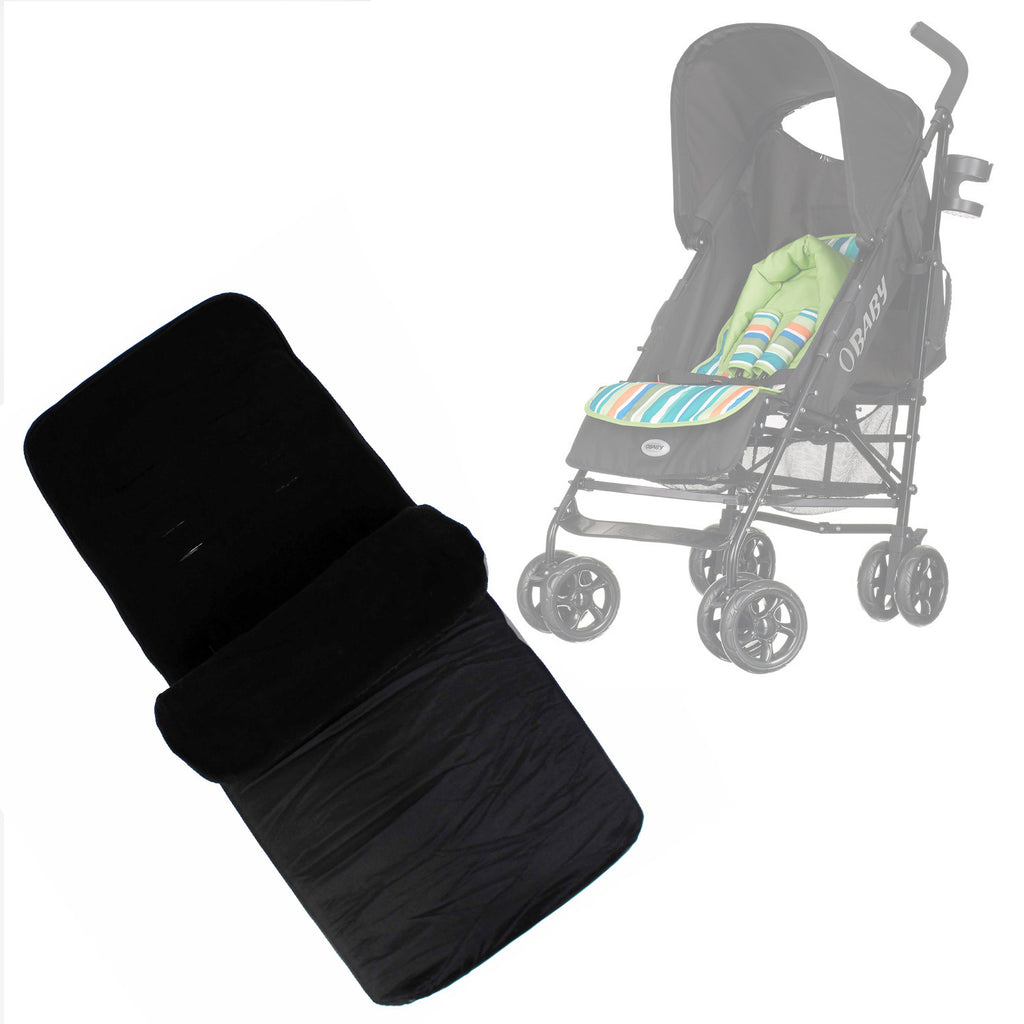 Buddy Jet Foot Muff Black Suitable For OBaby Atlas Lite Travel System (Lime Stripes) - Baby Travel UK  - 1