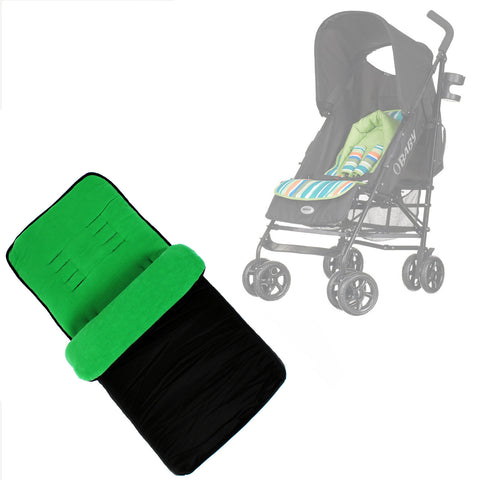 Buddy Jet Foot Muff Lief Suitable For OBaby Atlas Lite Travel System (Lime Stripes)