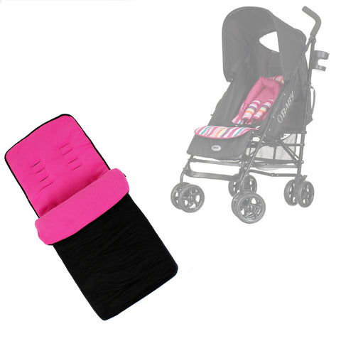 Buddy Jet Foot Muff Pink Suitable For OBaby Atlas Lite Travel System (Pink Stripes)