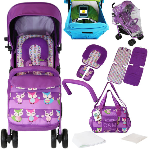 iSafe Optimum Baby Stroller Foxy Complete With Changing Bag