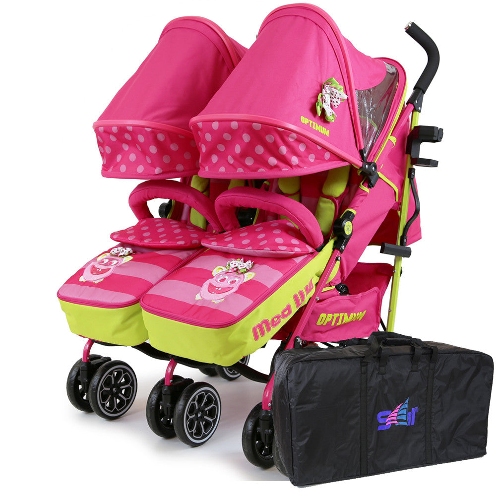 iSafe TWIN OPTIMUM Stroller Mea LUX + Travel Bag - Baby Travel UK  - 11