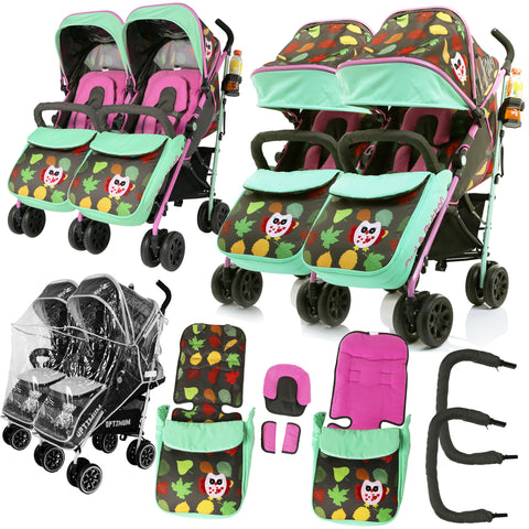 Twin Optimum Stroller - Owl & Button