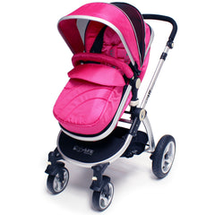 iSafe 3 in 1 - Pink (With Car Seat) Travel System Pram Options - Baby Travel UK  - 7