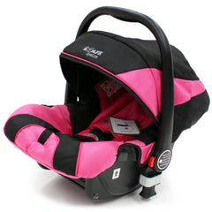 iSafe 3 in 1 - Pink (With Car Seat) Travel System Pram Options - Baby Travel UK  - 11