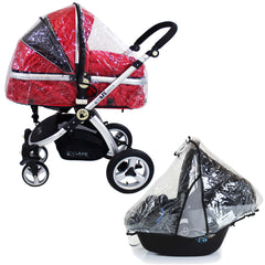 iSafe 3 in 1 - Red (With Car Seat) Travel System Pram Options - Baby Travel UK  - 11