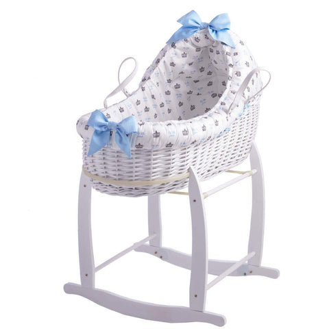 Clair de Lune Designer Rachel Riley My Little Prince Bassinet With Deluxe Stand