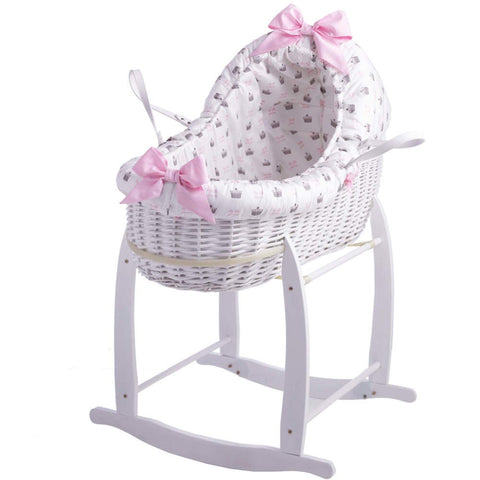 Clair de Lune Designer Rachel Riley My Little Princess Bassinet With Deluxe Stand