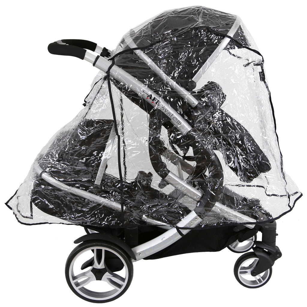 Joolz Geo Duo Tandem Raincover iN LiNe (Large) All In One Version Rain Cover - Baby Travel UK  - 1