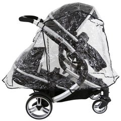 Rain Cover For Jane Twone Twin Matrix Light 2 Pushchair - Baby Travel UK  - 2
