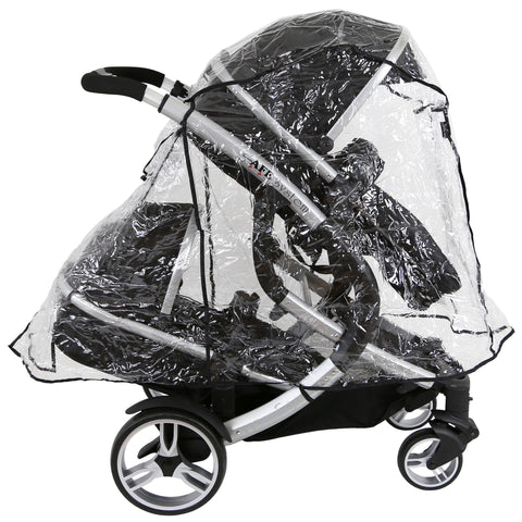 Rain Cover To Fit Hauck Freerider Tandem Stroller (iSafe Tandem RC)