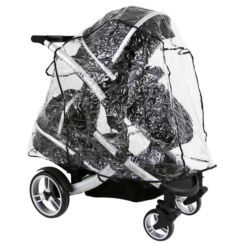 Hauck Duett Tandem Raincover iN LiNe (Large) All In One Version - Baby Travel UK  - 1
