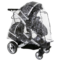 Rain Cover For Jane Twone Twin Matrix Light 2 Pushchair - Baby Travel UK  - 1