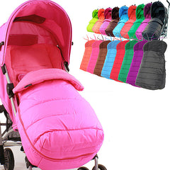 Luxury Padded Footmuff Liner - Raspberry Pink Fit Maclaren Quest Triumph Techno - Baby Travel UK  - 6