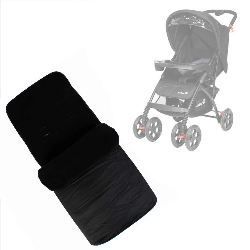 Buddy Jet Foot Muff Black Suitable For Safety 1st SF1 Travel System (Black) - Baby Travel UK  - 1