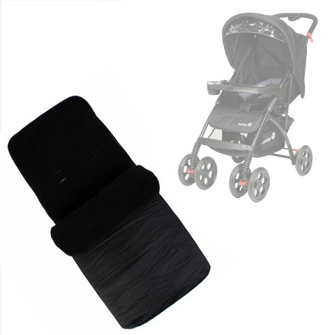 Buddy Jet Foot Muff Black Suitable For Safety 1st SF1 Travel System (Black Sky)