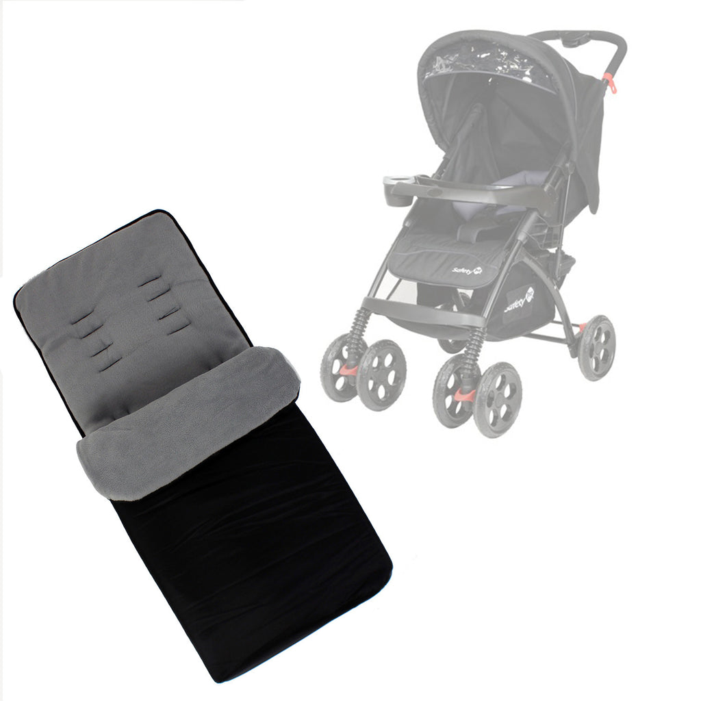 Buddy Jet Foot Muff Grey Suitable For Safety 1st SF1 Travel System (Black) - Baby Travel UK  - 1