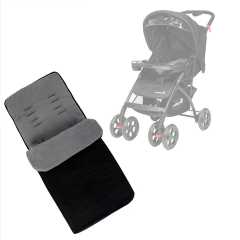 Buddy Jet Foot Muff Grey Suitable For Safety 1st SF1 Travel System (Black Sky)