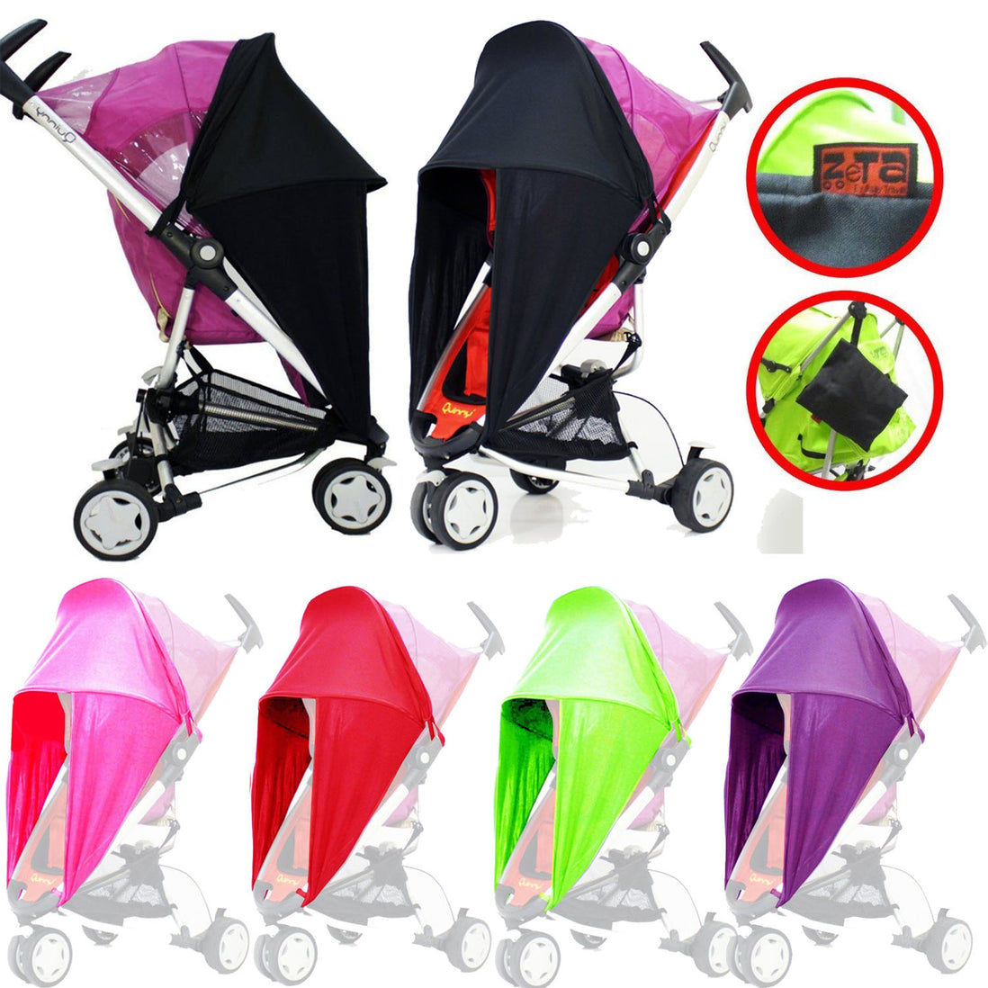 Baby Parasol Compatible with Mamas And Papas Stroller Buggy Pram Red