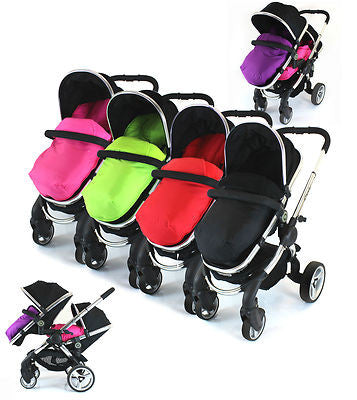 Cosy Toes With Pouches Stroller Liner For iCandy Peach Pear Apple Pram (lite) - Baby Travel UK  - 1
