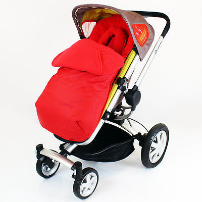 Footmuff To Fit Petite Star Zia, Quinny Buzz - Red - Baby Travel UK  - 1