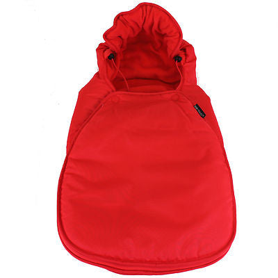 Footmuff Warm Red Fits Car Seat Mode On Bugaboo Bee Camelon - Baby Travel UK  - 1