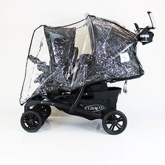 Raincover For Graco Quattro Tour Duo Tandem Double - Baby Travel UK  - 2