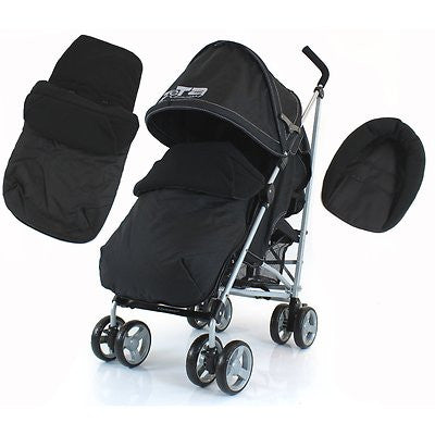 Zeta Vooom Stroller Pushchair Footmuff Headhugger Buggy Pram From Birth - Baby Travel UK  - 1