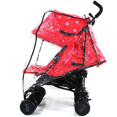 Rain Cover To Fit Silver Cross Pop Duo Rouge Pepper - Baby Travel UK  - 2