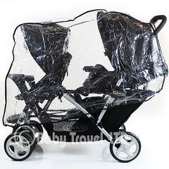 Universal Graco Stadium Duo Tandem Double Raincover Safety 1st Combi - Baby Travel UK  - 1