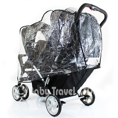 Universal Graco Stadium Duo Tandem Double Raincover Safety 1st Combi - Baby Travel UK  - 2