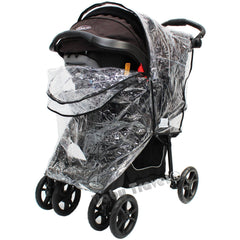 Travel System Raincover To Fit - Cosatto Fly Pram System (Heavy Duty, High Quality) - Baby Travel UK  - 2