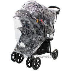 Travel System Raincover To Fit - Hauck Viper Trio SLX (Heavy Duty, High Quality) - Baby Travel UK  - 6
