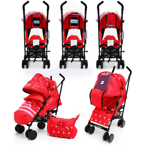 iSafe Media Viewing Bow Dots Stroller Buggy Complete Package