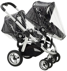 x2 Rain Covers For iCANDY Peach Main Seat Unit & Second Seat When Tandem Mode - Baby Travel UK  - 2