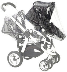 x2 Rain Covers For iCANDY Peach Main Seat Unit & Second Seat When Tandem Mode - Baby Travel UK  - 3