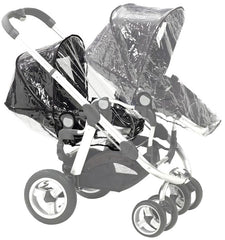 x2 Rain Covers For iCANDY Peach Main Seat Unit & Second Seat When Tandem Mode - Baby Travel UK  - 4