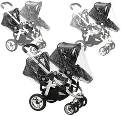 x2 Rain Covers For iCANDY Peach Main Seat Unit & Second Seat When Tandem Mode - Baby Travel UK  - 1