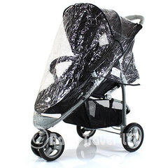 Rain Cover To Fit Red Kite Push Me Urban Jogger (Panther) - Baby Travel UK  - 7