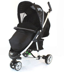 New Fleece Lined Footmuff To Fit Petite Star Zia Pushchair, Quinny Buzz Black - Baby Travel UK  - 1
