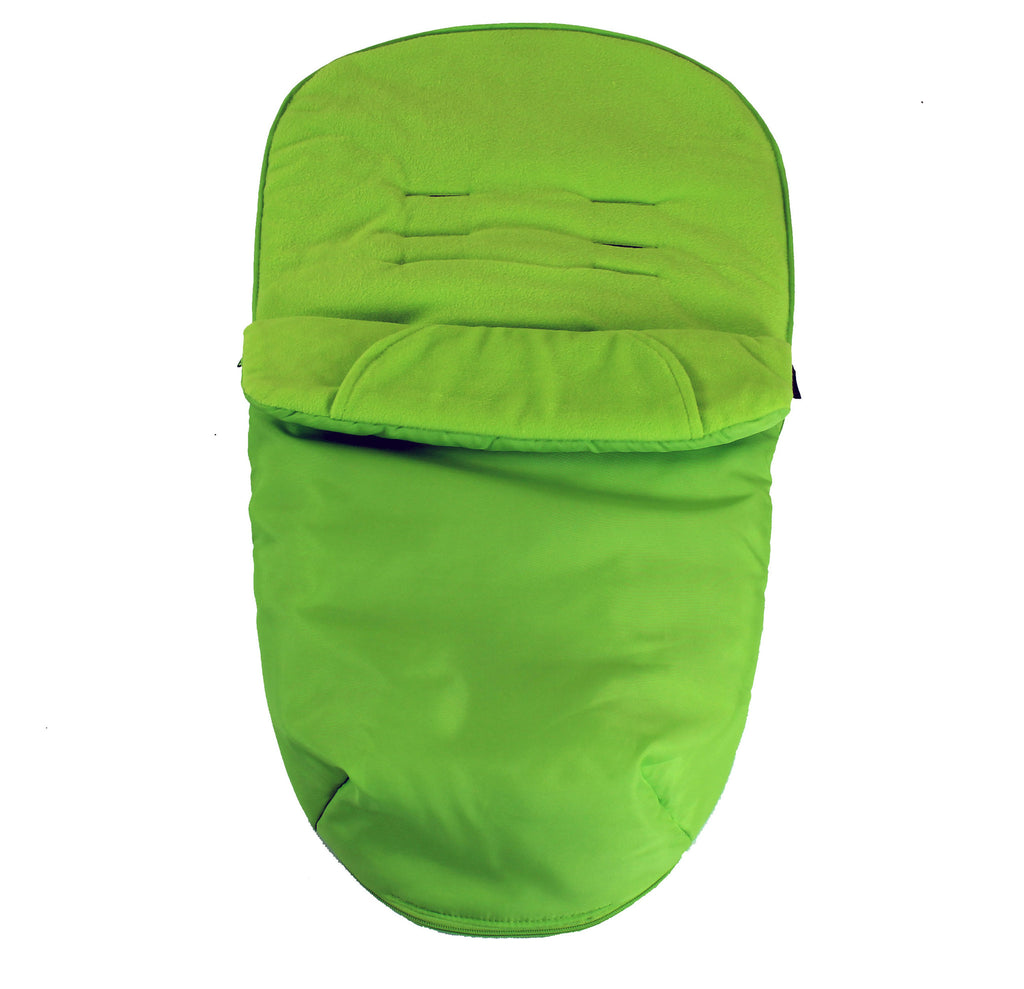 Luxury Fleece Lined Footmuff Lime Green Pouches For Quinny Zapp Xtra - Baby Travel UK  - 1