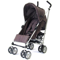 New Zeta Vooom Hot Chocolate + Mc Large Padded Footmuff Liner Stroller Pushchair - Baby Travel UK  - 7