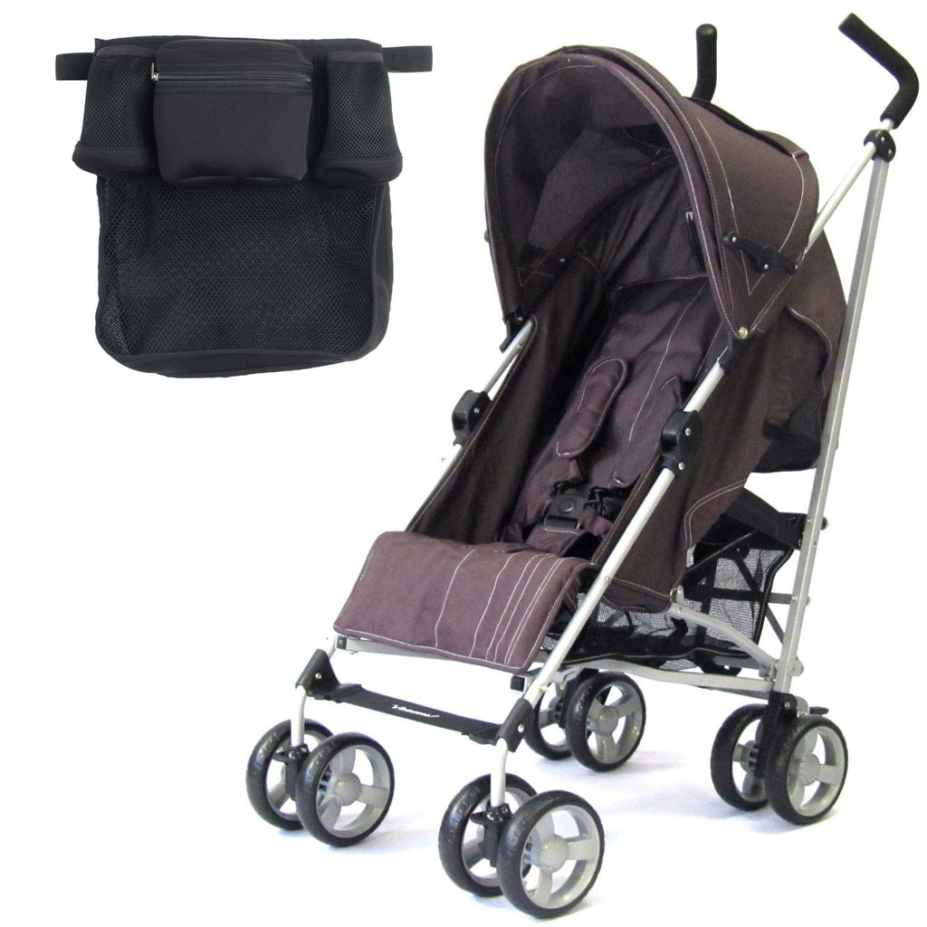 Baby Stroller Zeta Vooom! - Hot Chocolate + Buggy Organiser (Brown) - Baby Travel UK  - 1