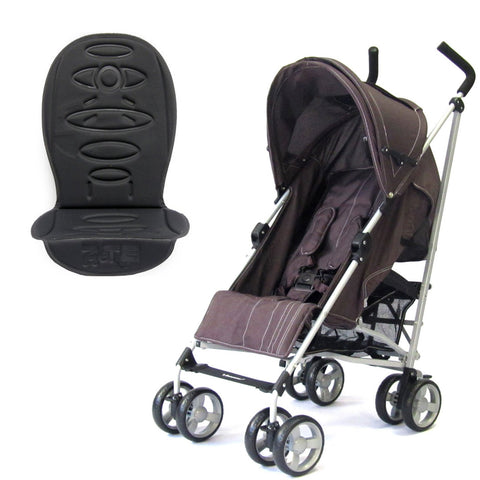 Zeta Vooom Stroller Hot Chocolate + Luxury Padded Liner Black