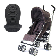 Zeta Vooom Stroller Hot Chocolate + Luxury Padded Liner Black - Baby Travel UK  - 1
