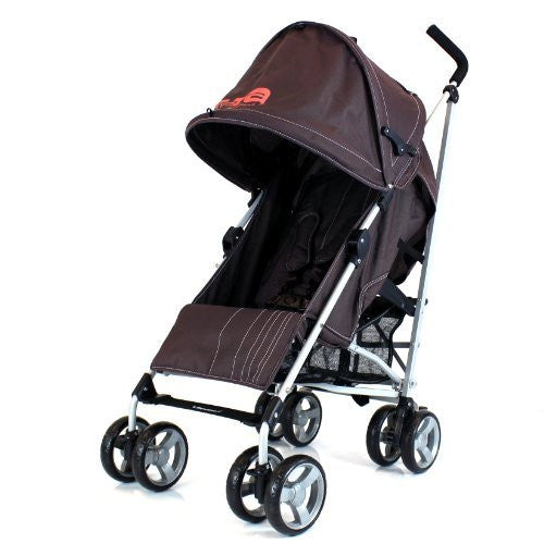 Baby Stroller Zeta Vooom - Hot Chocolate (Brown) Buggy Pushchair From Birth With Raincover - Baby Travel UK  - 1