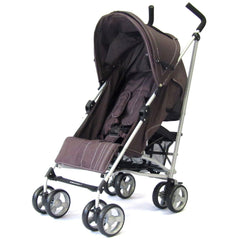 Baby Stroller Zeta Vooom - Hot Chocolate (Brown) Buggy Pushchair From Birth With Raincover - Baby Travel UK  - 2