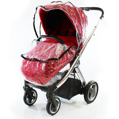Rain Cover Fits iSafe Pram System Pushchair Stroller Raincover - Baby Travel UK  - 4