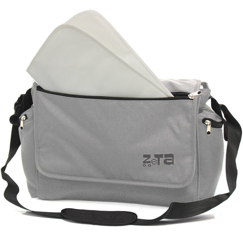 Baby Travel Zeta Changing Bag - Grey